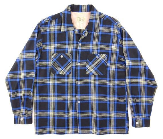 1950s Vintage Blocks / Brilliant Blue / Tartan Che