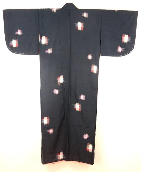 1920s-1930s Vintage Silk Japanese Kimono / Pink, … - image 6