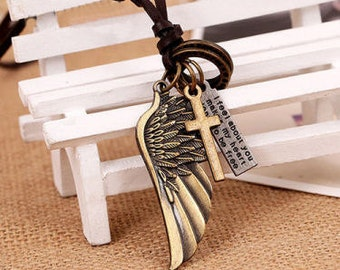 Men's Adjustable Leather Necklace