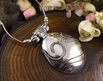 Tibetan Silver Dome Necklace