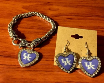 University of Kentucky Bracelet and Earring Set