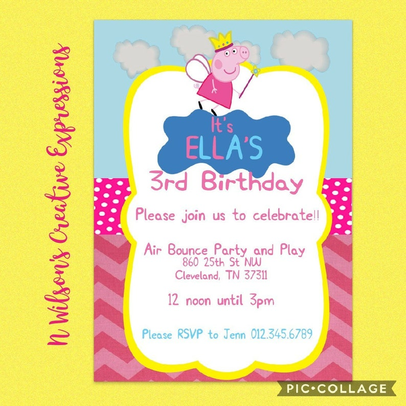 Disneys Peppa Pig 1st 2nd 3rd 4th Birthday Party