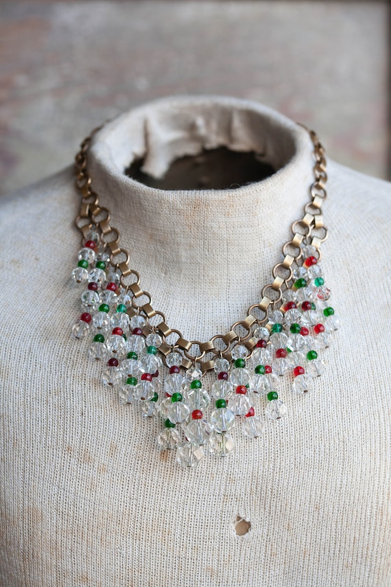 1940's Unsigned Miriam Haskell Bib Necklace, 1940'