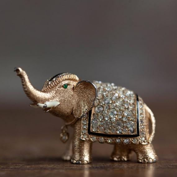 Vintage Ciner Elephant Brooch, Vintage Ciner Figur