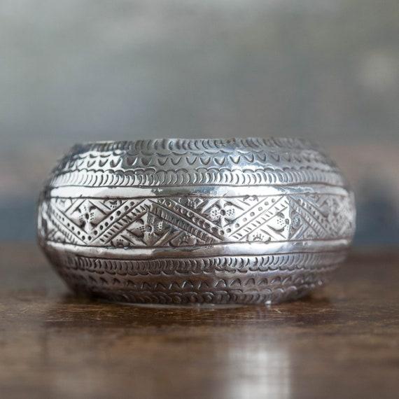 Vintage Rajasthani Sterling Indian Hammered Bracel