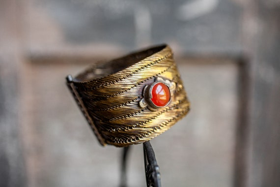 Antique Turkish Trabzon Bracelet, Turkish Woven Br