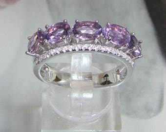 Women's ring in silver and Amethyst size 52