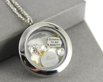 Cremation jewelry etsy stainless steel cremation urn engraved floating locket charm memory locket necklace cremation jewelry memorial jewellery ashes pendant aloadofball Gallery