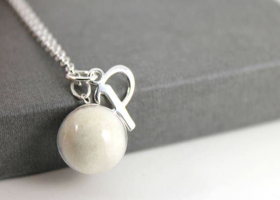 Diy Breast Milk Pearl And Initial Sterling Silver Necklace -5293
