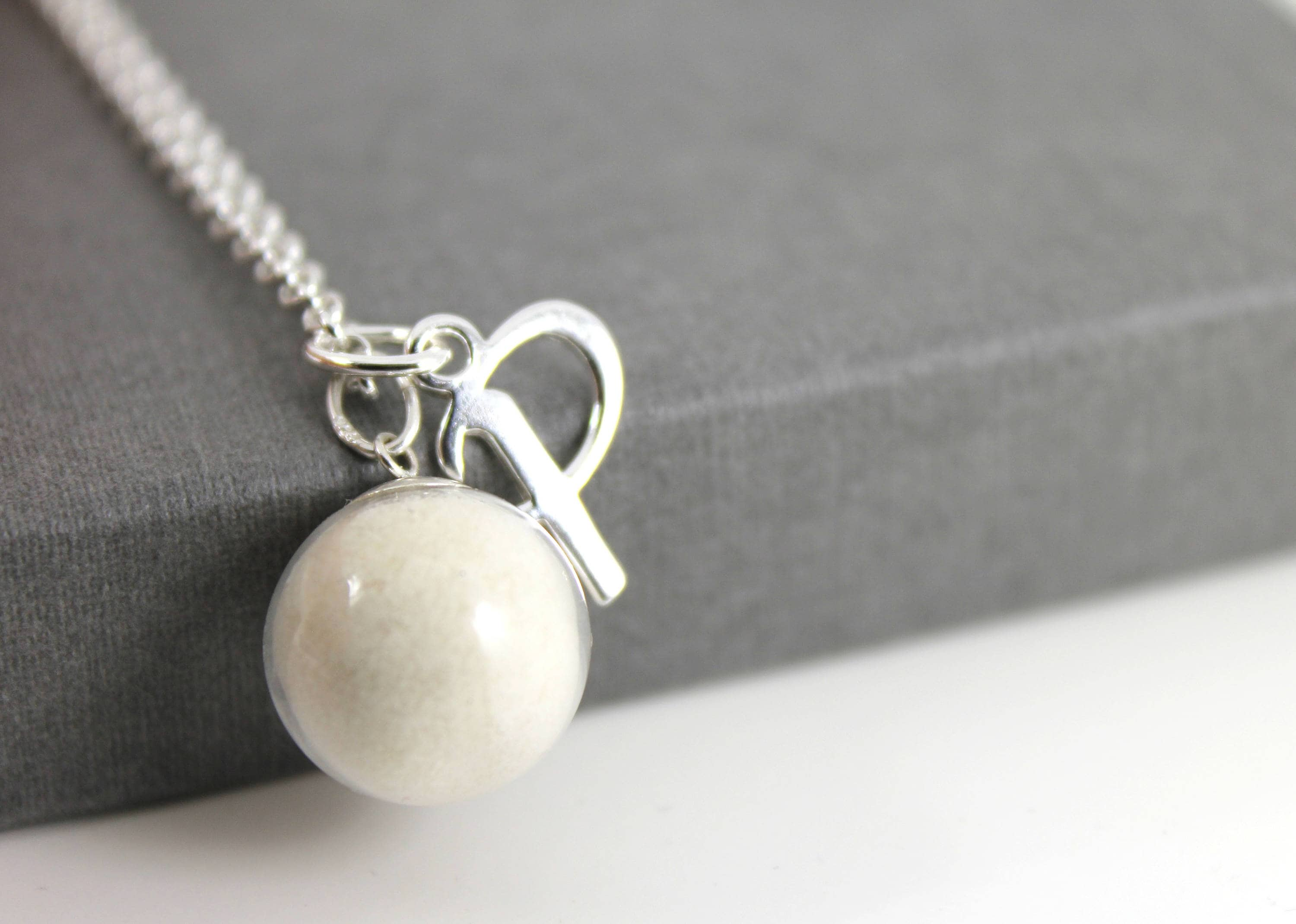 Diy breast milk pearl and initial sterling silver necklace kit do it diy breast milk pearl and initial sterling silver necklace kit do it yourself dna breastmilk solutioingenieria Image collections