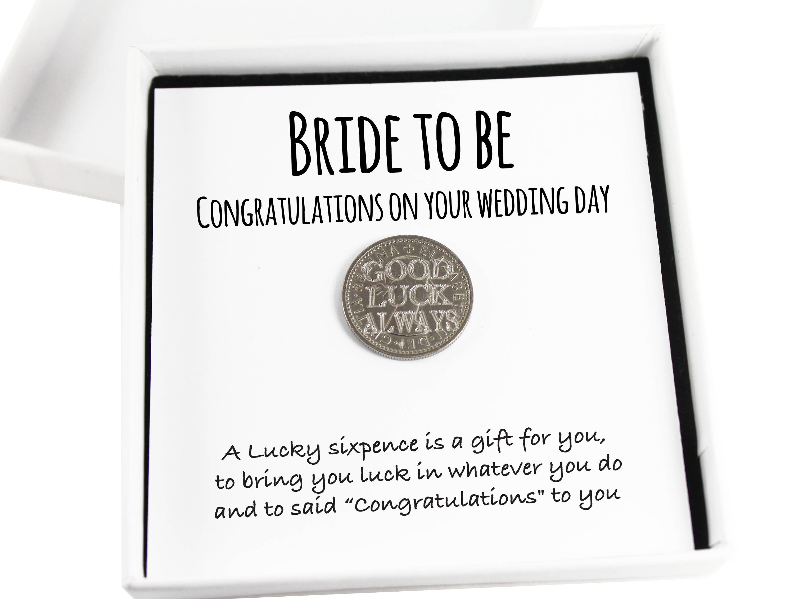 Bride To Be Lucky Sixpence Coin Keepsake Gift Good Luck Present