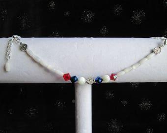 Red, White and Blue Bracelet #1