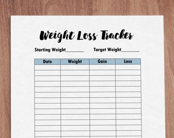 weight loss tracker planner insert a5 printable planner insert instant download kikki k planner insert fitness planner weight loss journal