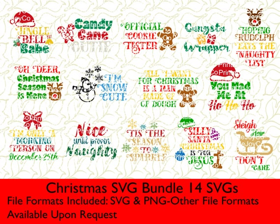 Christmas Svg Bundle Svg And Png Files For Cutting Machines Etsy