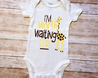 I'm Worth Waiting For -April the Giraffe- Body Suit
