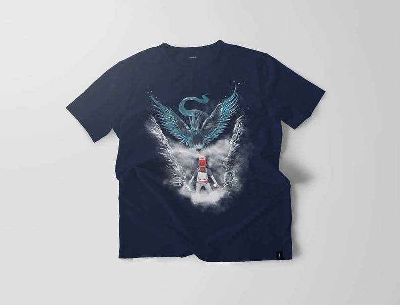 Legendario Camiseta Camisa Ave Go Azul Equipo Articuno Encuentro De T Pokemon Ellygeh Mística K1lFc3TJu