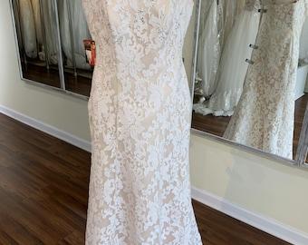 ed8da717d Plus size wedding dress lace plus size bridal gown with corset champagne  wedding mermaid dress