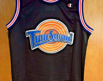 873dcfaa210 Michael Jordan #23 Space Jam Tune Squad Basketball Jersey Black S M L XL XXL