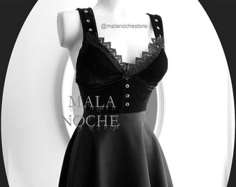97b7f6b6d2 Dress Raquel , dress black velvet, guipure, dark clothing, lace dress, goth  dress, black velvet, gothic, pencil dress