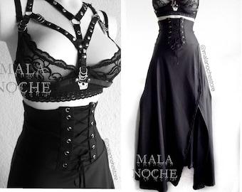 8d433d458 Skirt Ravena, long skirt, gothic skirt, maxi skirt, goth, dark, victorian  skirt, black skirt, women skirt, gothic clothing, gothic skirt