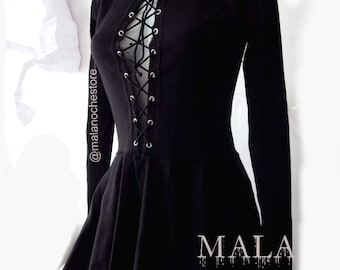 Goth Skater Dress Evangeline Dark Rock Clothing Gothic Witchy