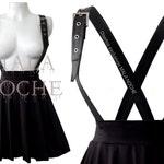 Goth skirt, Gretel Skirt,  black dress, vegan leather dress, bdsm, dark dress, vegan leather skirt, goth dress, Witch skirt