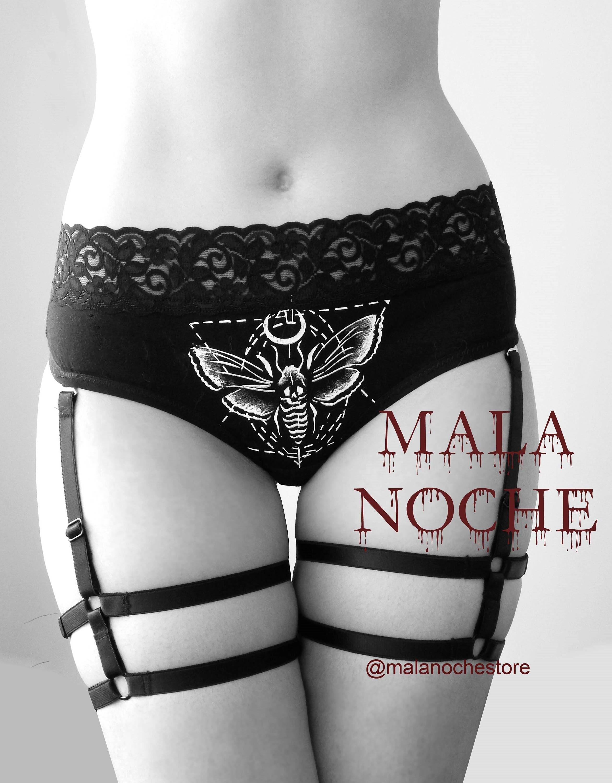 00dc09eef0d Panty Moth garter belt pentagram bdsm lingerie burlesque