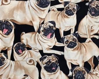 The Highest Quality Premium Textile Pug Dog Cotton Fabric Cloth For Baby Nursery Fabric