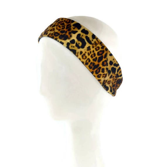 Leopard Headbands Women Cheetah Turban Head Wrap Yoga Workout Hairbands Fashion