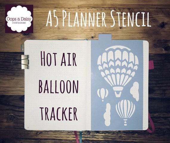 A5 Planer Schablone Heißluftballon Tracker Wiederverwendbar Kugel Zeitschrift Happy Planer Vorlage