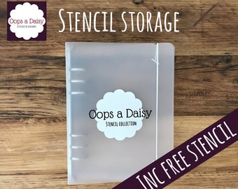 Oops a Daisy Stencil Storage File - includes stencil of the month FREE!