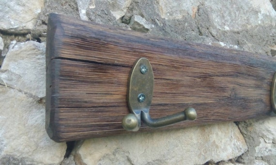 Rustic Beech Wood Country Stile With Metal Hooks Etsy
