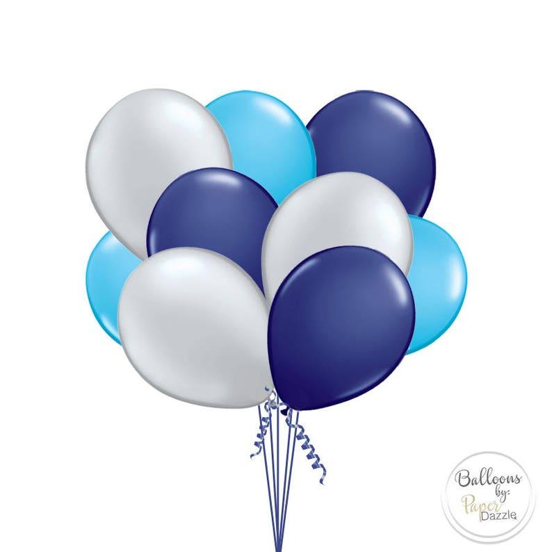 """12 Bleu Chrome Anniversaire 11/"""" Latex Ballons Pack Fête De Mariage Célébrations"""