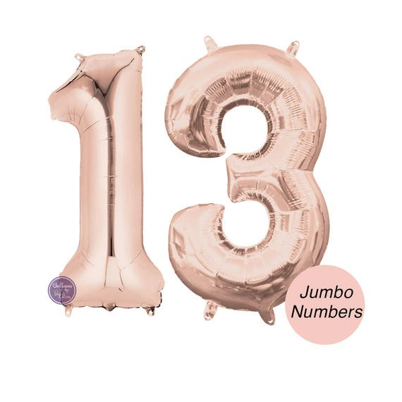 13 Giant Number Balloons Balloon Decor Kit Birthday