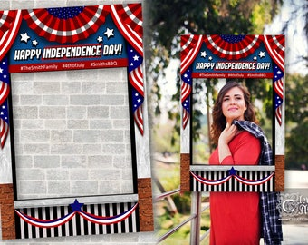 4th Of July Printable Backdrop Fourth Of July Independence Day Etsy