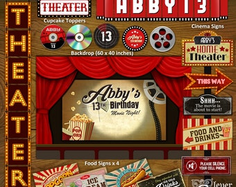 movie theater party etsy