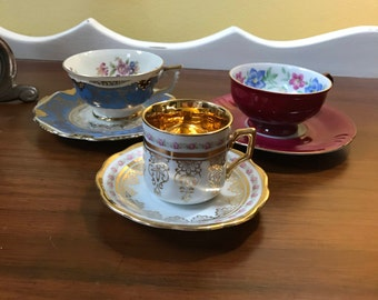 Gorgeous Winterling Bavaria Demitasse Cups and Saucers