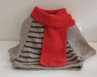 Warm neck wrap. Felted shoulder wrap Colourful patchwork Wrap Designer asymmetrical felted top Patchwork Poncho Nuno-felted Poncho