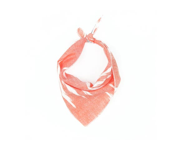 Coral Arrow Small Ikat Dog Bandana