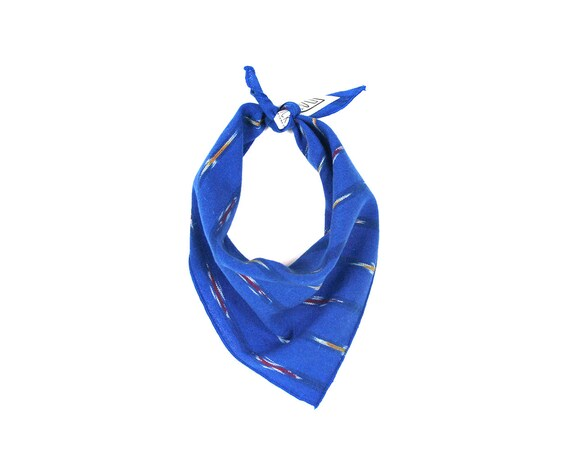 Cobalt Blue Ikat Small Dog Bandana