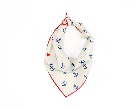 Anchors Away Small Ikat Dog Bandana