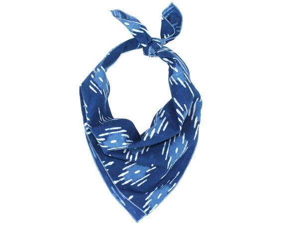 Indigo Blue Batik Bandana
