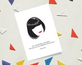 Moira Rose Greeting Card - Schitt'S Creek Card - Moira Rose Bébé And Quote - Funny Card - Catherine O'Hara