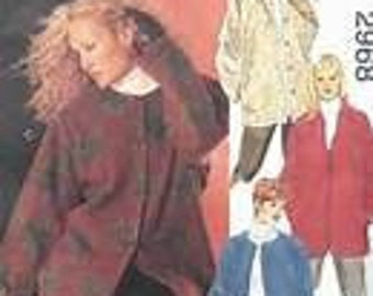 McCall's 2968 Nähen Musterart Frau UNGEFÜTTERT Jacke 4 Variationen Größe KK 26W - 50