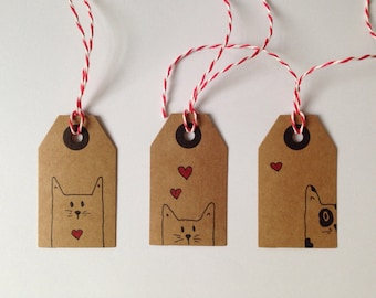 Cat Gift Tags (Set of 3)
