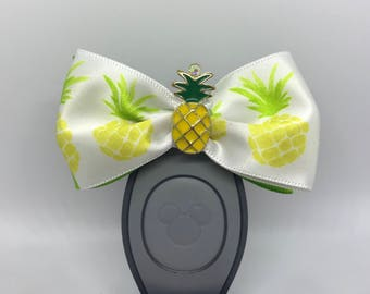 Pineapple Dole Whip Inspired Magic Band Bow