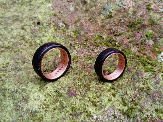 Yer Jalan Atthirari Anni Shekh Ma Shieraki Anni Moon of my life My sun and stars rings Ebony and copper rings geek wedding rings