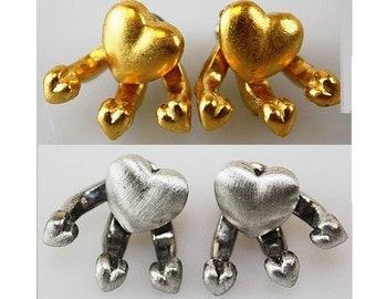 """/""""JJ/"""" Jonette Jewelry Matte Silver Pewter I LOVE AUNTIE Heart Photo Pin"""