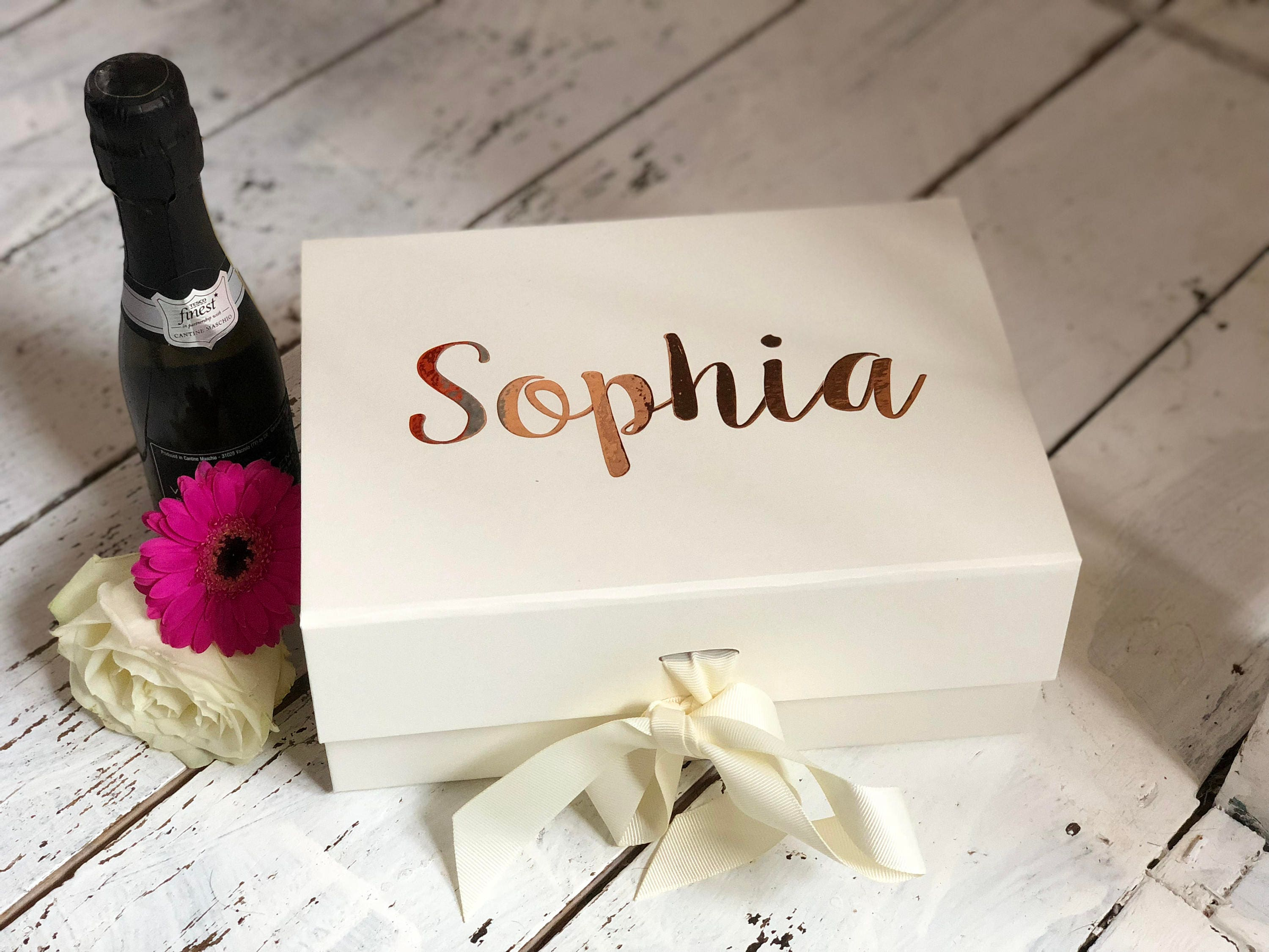 Luxury A5 size gift box with ribbon Bridesmaid box Brides