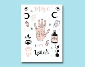 Board magic bullet journal stickers